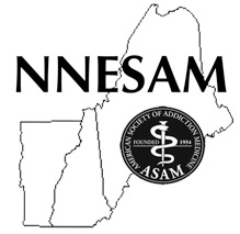 The logo of NNESAM encompassing the states of Maine, New Hampshire and Vermont